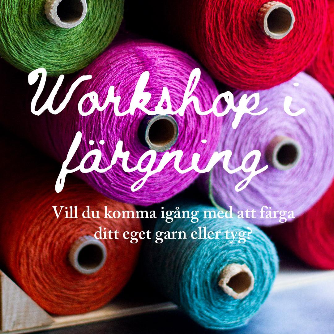 Färgade garner, workshop